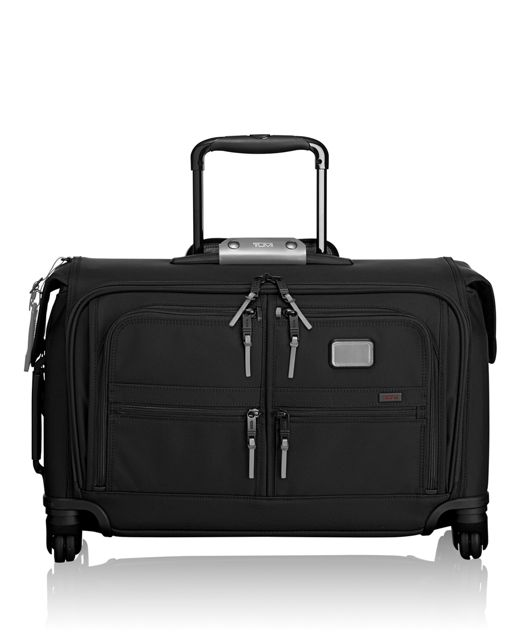 Carry-On 4 Wheeled Garment Bag in Metallic Silver