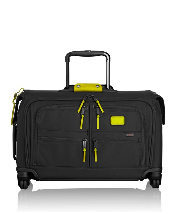 Carry-On 4 Wheeled Garment Bag in Citron