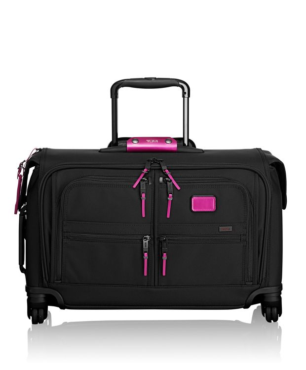 Carry-On 4 Wheeled Garment Bag in Metallic Pink