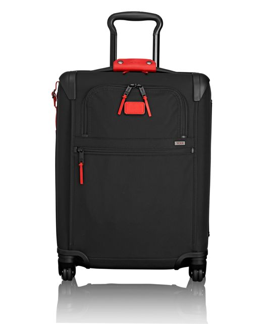 International 4 Wheeled Slim Carry-On in Cherry
