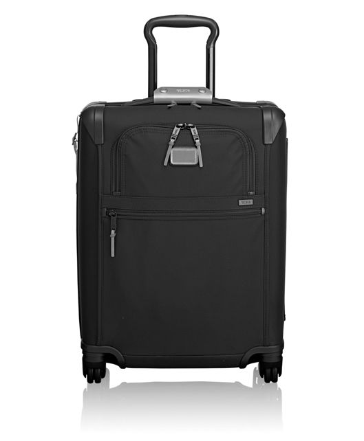 International 4 Wheeled Slim Carry-On in Metallic Silver