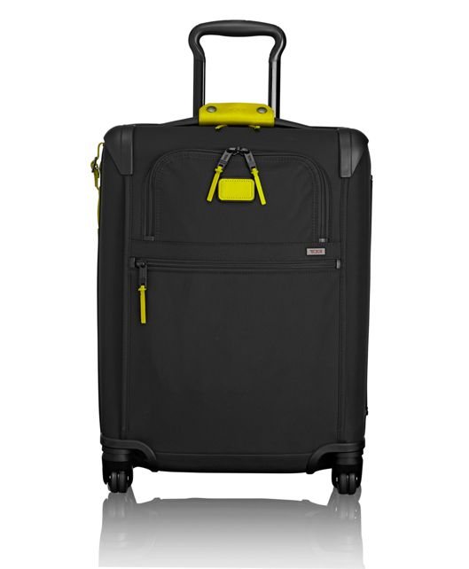 International 4 Wheeled Slim Carry-On in Citron