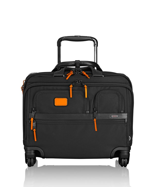 4 Wheeled Deluxe Brief with Laptop Case in Sunrise