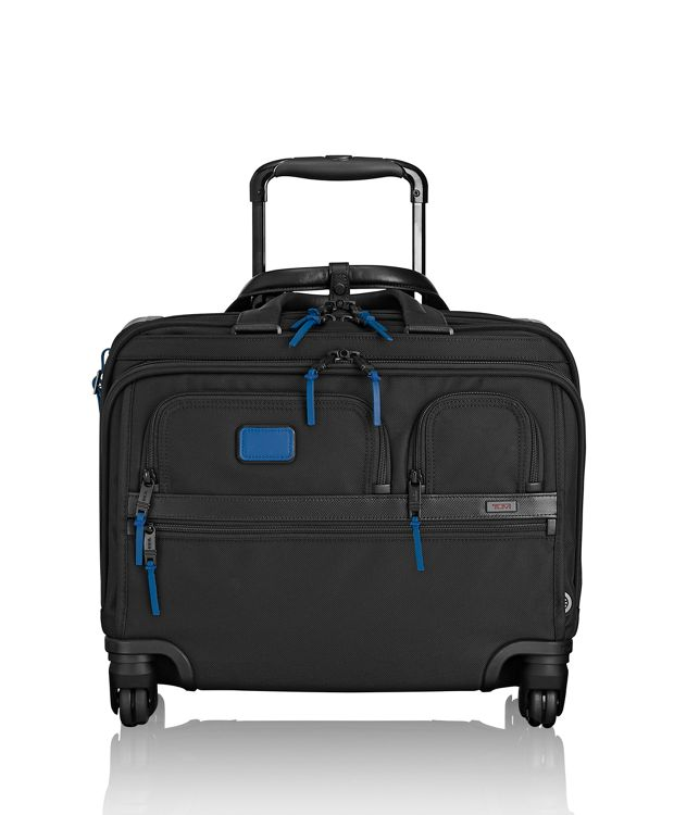 4 Wheeled Deluxe Brief with Laptop Case in Atlantic