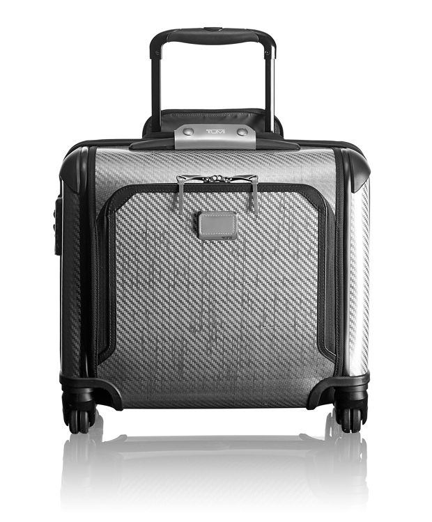 Tegra-Lite® Max Carry-On 4 Wheeled Briefcase in Metallic Silver