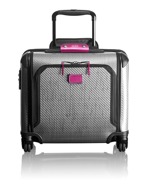 Tegra-Lite® Max Carry-On 4 Wheeled Briefcase in Metallic Pink