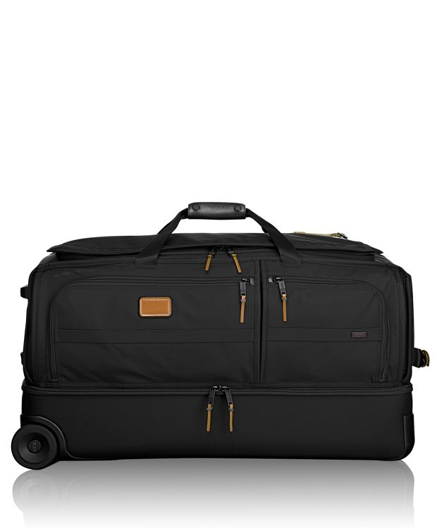 Large Wheeled Split Duffel in Metallic Bronze