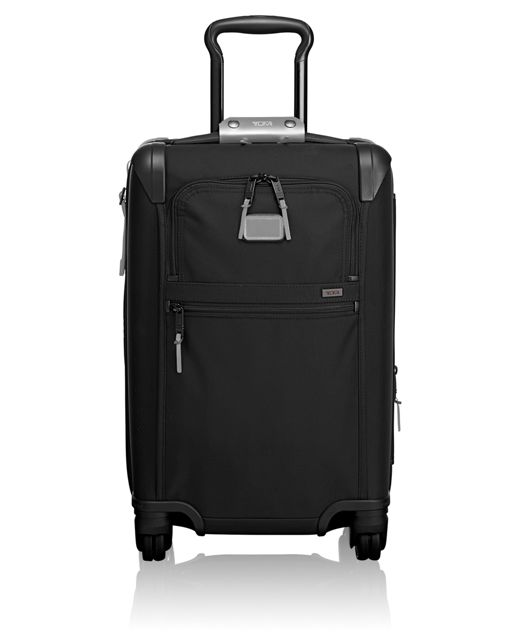 International Expandable 4 Wheeled Carry-On in Metallic Silver