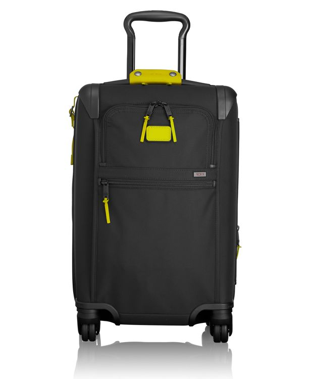 International Expandable 4 Wheeled Carry-On in Citron