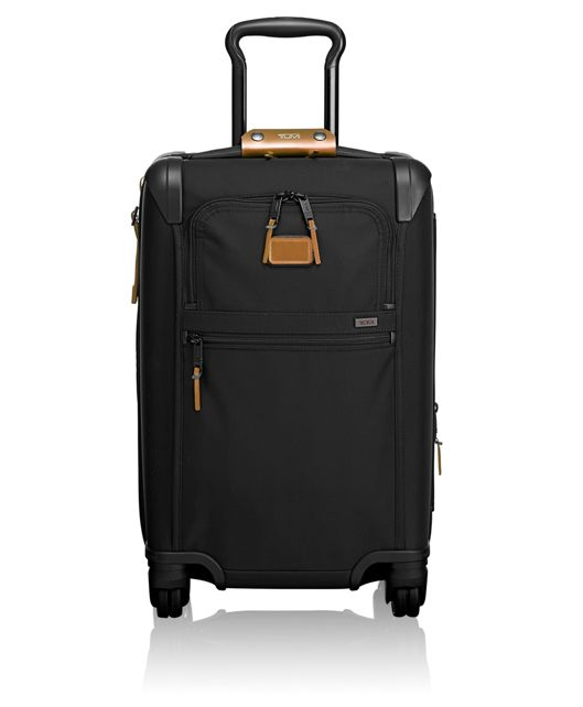 International Expandable 4 Wheeled Carry-On in Metallic Bronze