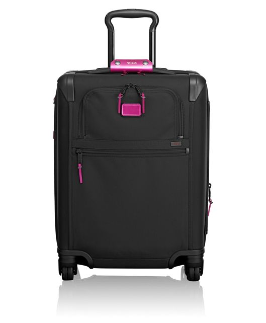 Continental Expandable 4 Wheeled Carry-On in Metallic Pink
