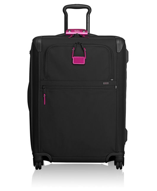 Short Trip Expandable 4 Wheeled Packing Case in Metallic Pink