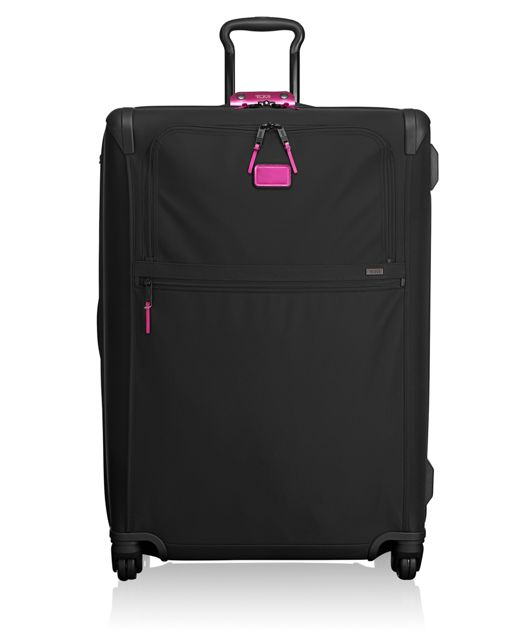 Extended Trip Expandable 4 Wheeled Packing Case in Metallic Pink