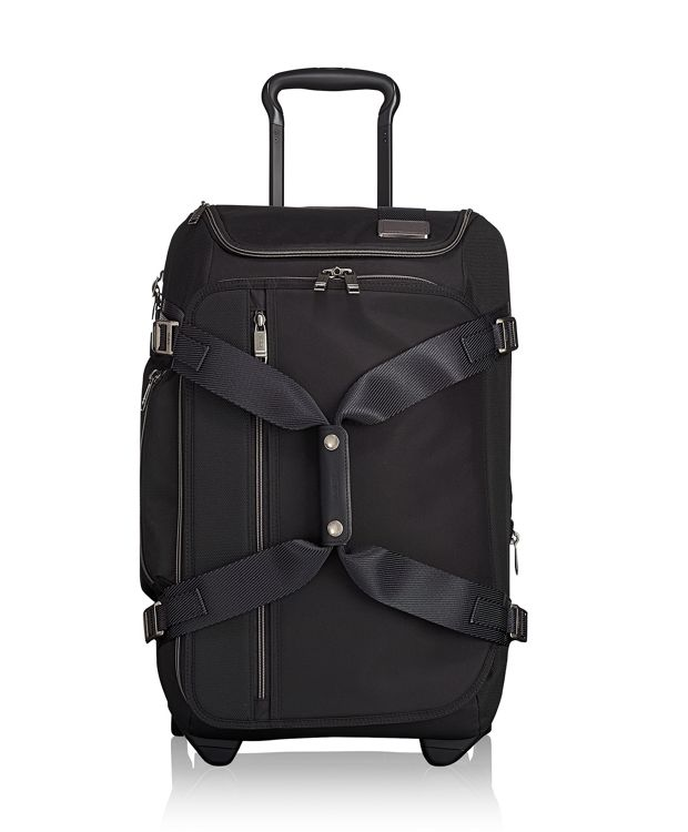 Wheeled Duffel Carry-On in Black Contrast