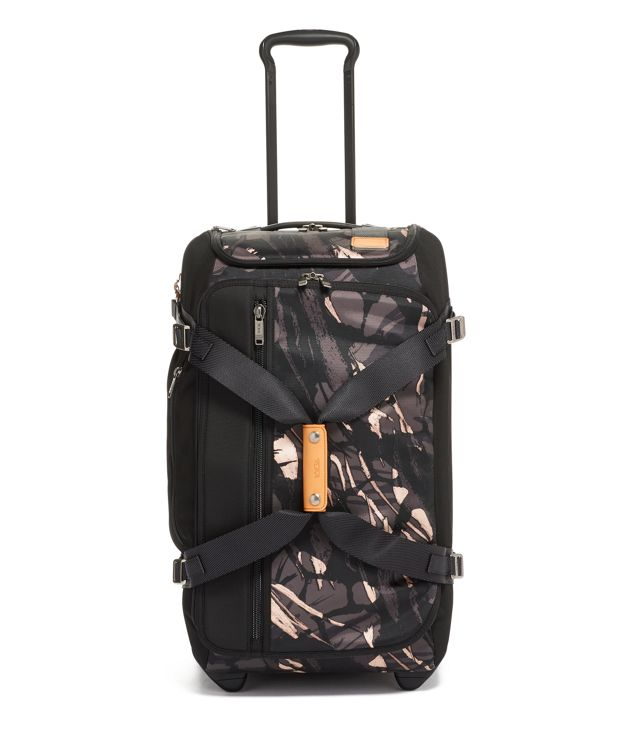 Wheeled Duffel Carry-On in Grey Highlands Print