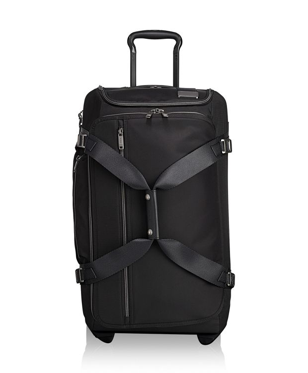Wheeled Duffel Packing Case in Black Contrast