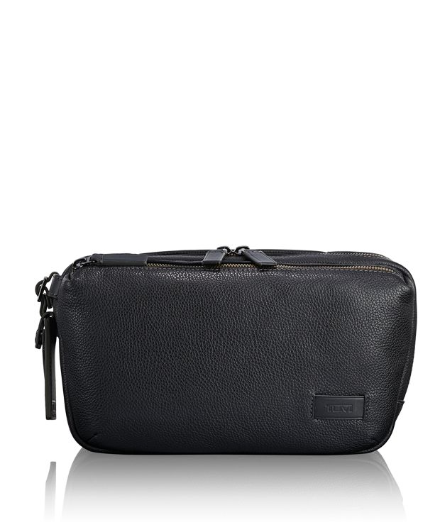 Daniel Utility Pouch in Black  Leather