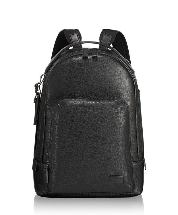 Cooper Backpack Leather in Black Leather