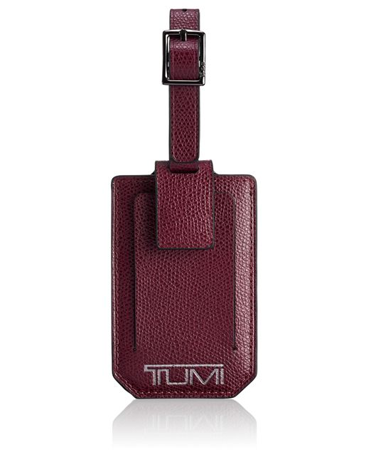 Luggage Tag in Maroon