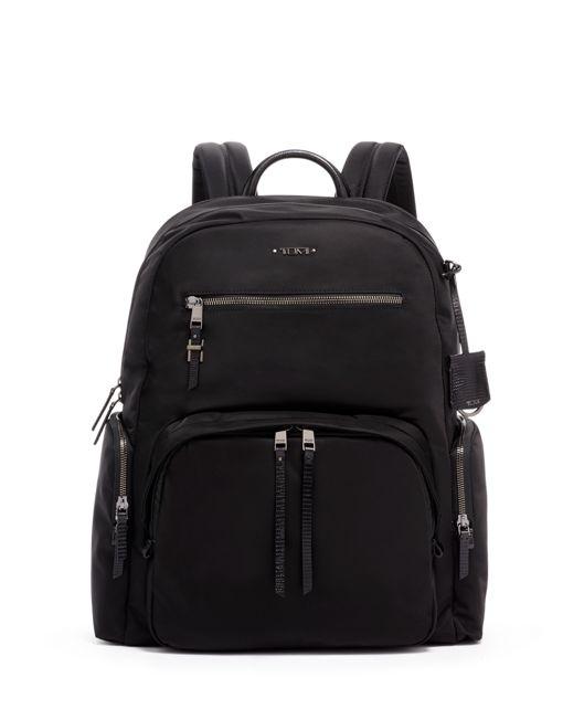 Carson Backpack in Black/Faux Lizard