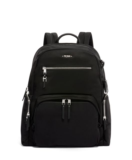 Carson Backpack in Black/Silver