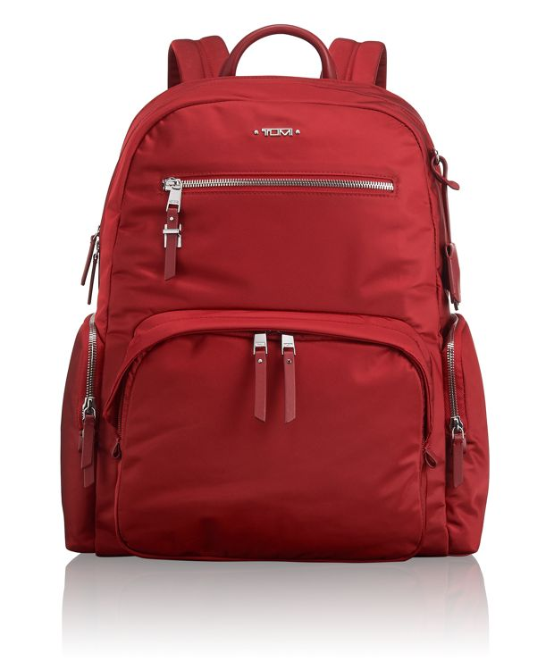Carson Backpack in Crimson
