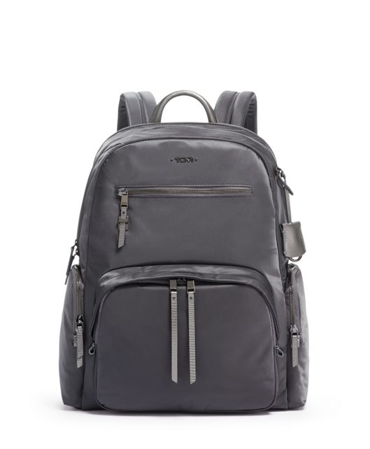 Carson Backpack in Iron/Faux Lizard