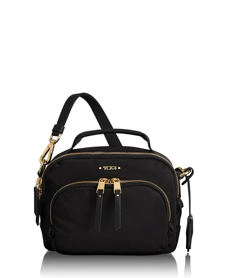Black Troy Crossbody