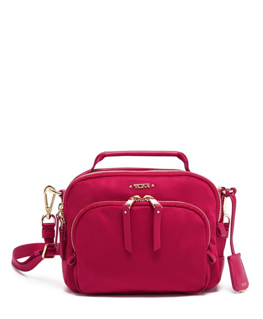 Troy Crossbody in Raspberry