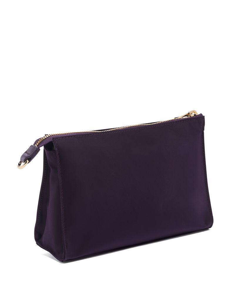 黑苺色Basel Triangle 小型拉鍊小物袋