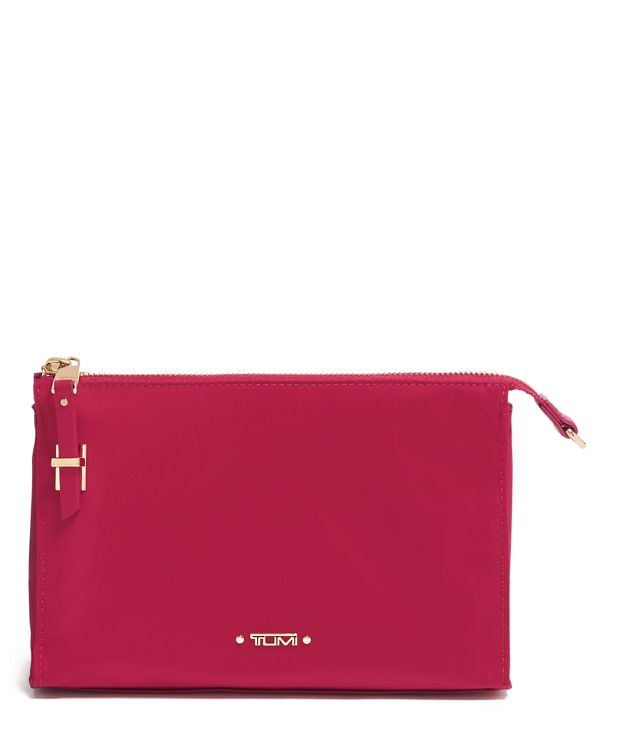 Basel Small Triangle Pouch in Raspberry