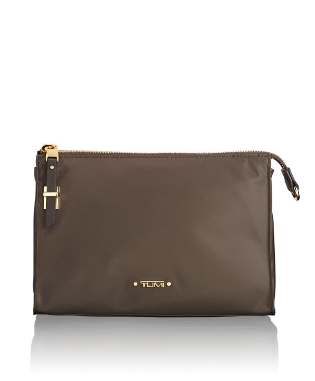 Basel Small Triangle Pouch in Mink