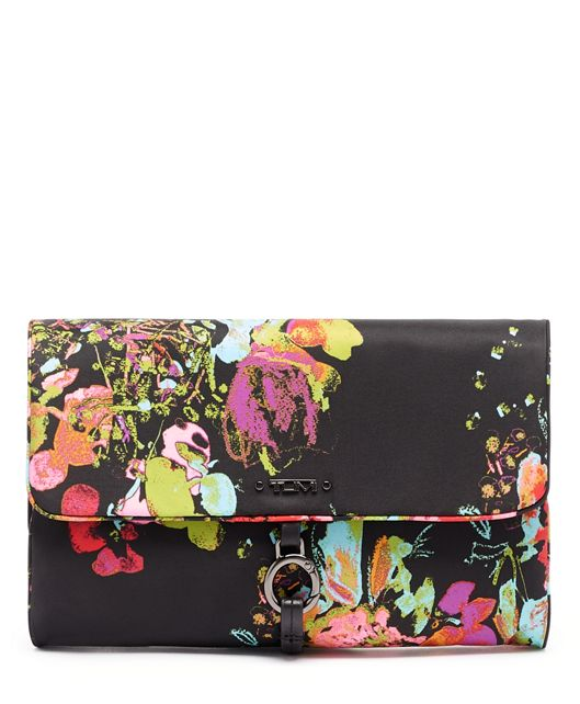 Ennis Jewelry Travel Roll in Collage Floral