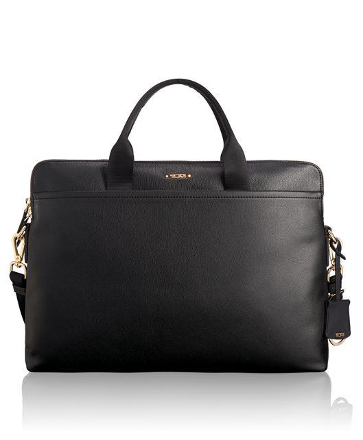 Joanne Laptop Carrier Leather in Black