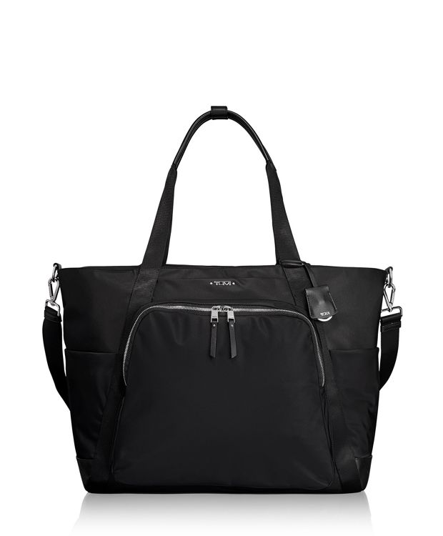 Madrid Duffel in Black/Silver