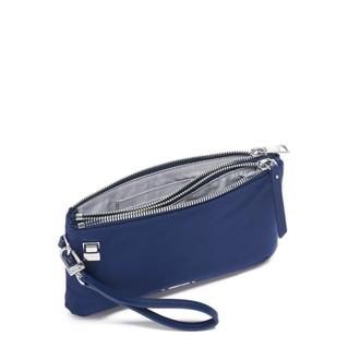 ABILENE DOUBLE ZIP POUCH Blue - medium | Tumi Thailand