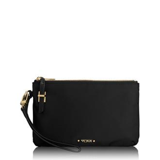 ABILENE DOUBLE ZIP POUCH Black - medium | Tumi Thailand
