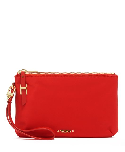 ABILENE DOUBLE ZIP POUCH Red - large | Tumi Thailand