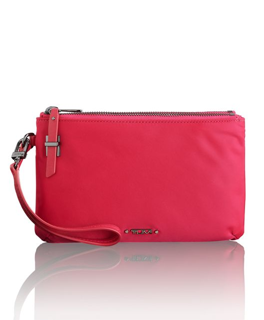 Abilene Double Zip Pouch in Magenta