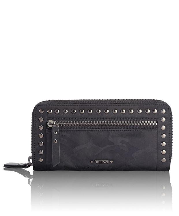 Zip-Around Continental in Black Camo