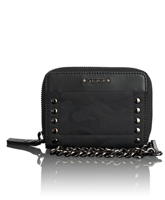 Tri-Fold Zip-Around in Black Camo