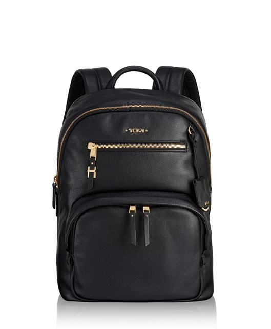 Hagen Backpack Leather in Black