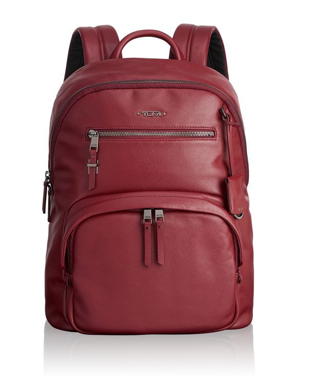 Hagen Backpack Leather in Brick