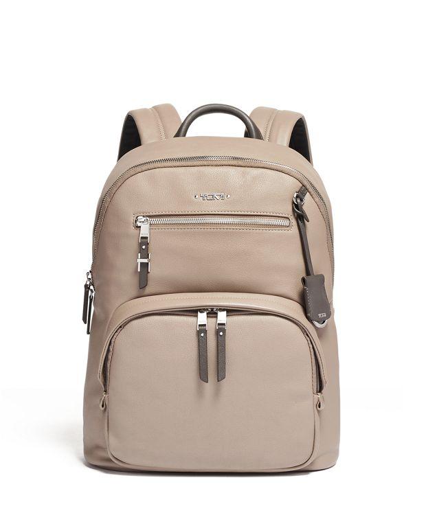 Hagen Backpack Leather in Gobi