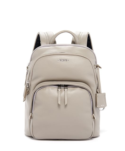 Dori Backpack Leather in Grey