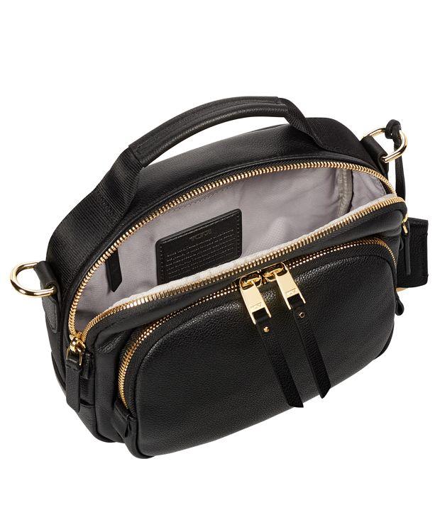 黑Troy皮革斜揹袋