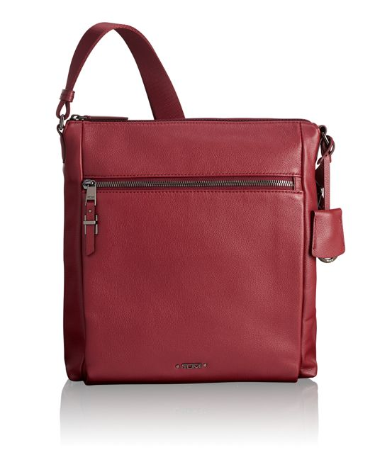 Canton Crossbody Leather in Brick