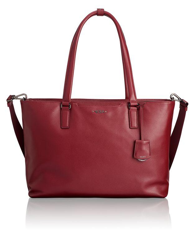Monika Tote Leather in Brick