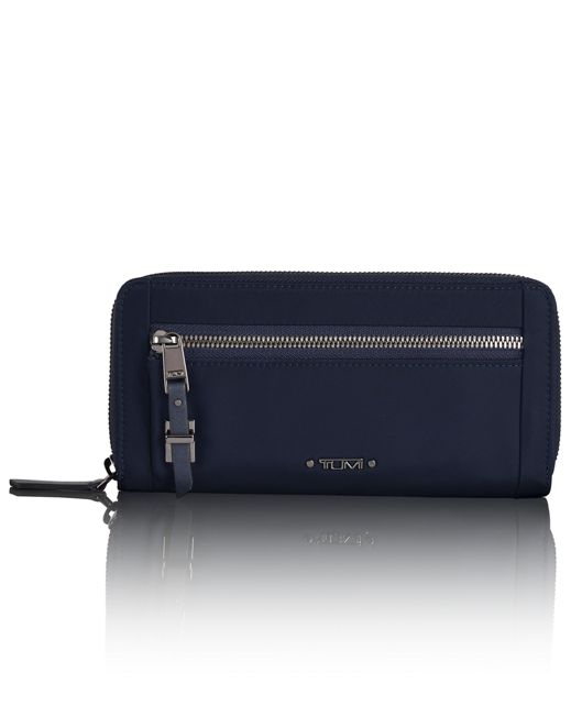 Zip-Around Continental in Navy