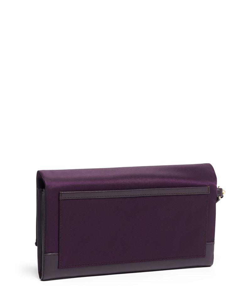 黑苺色旅行銀包